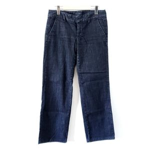 TOMMY HILFIGER Wide Leg Jeans Mid Rise Dark Wash